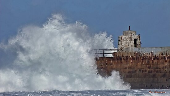 """"""" Still the waves smash into the pier"""" by Malcolm Chant"""