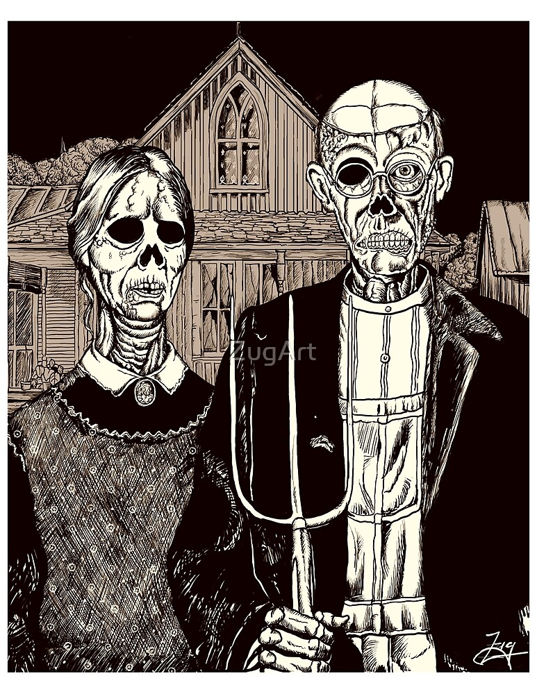 American Gothic Zombie by ZugArt