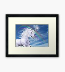 Over the Rainbow .. A Unicorn Tale Framed Print