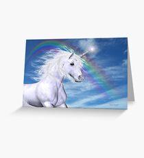 Over the Rainbow .. A Unicorn Tale Greeting Card