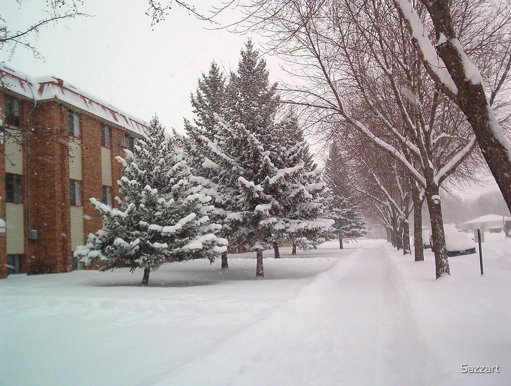 Moorhead MN First Snowstorm1 by Sazzart