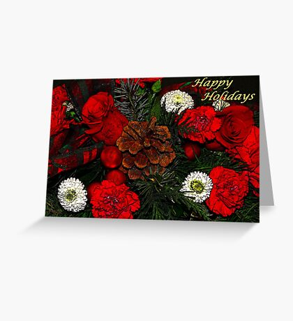 Christmas Flowers Greeting Card