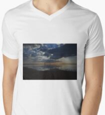 Walking the Dog in the Clouds V-Neck T-Shirt