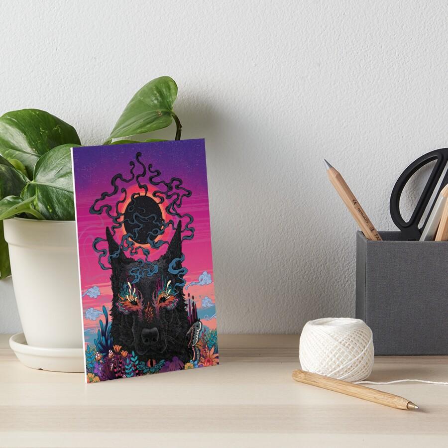 Black Eyed Dog Art Board Print