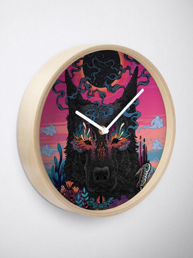 Alternate view of Black Eyed Dog Clock