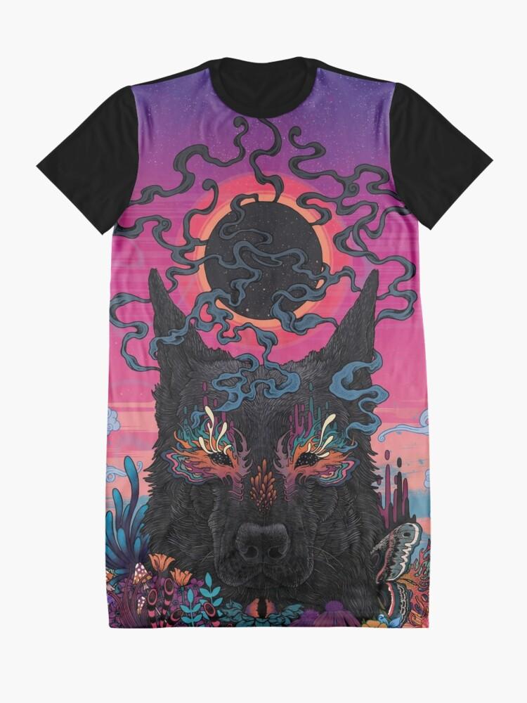 Alternate view of Black Eyed Dog Graphic T-Shirt Dress