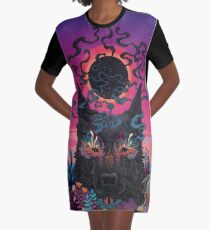Black Eyed Dog Graphic T-Shirt Dress