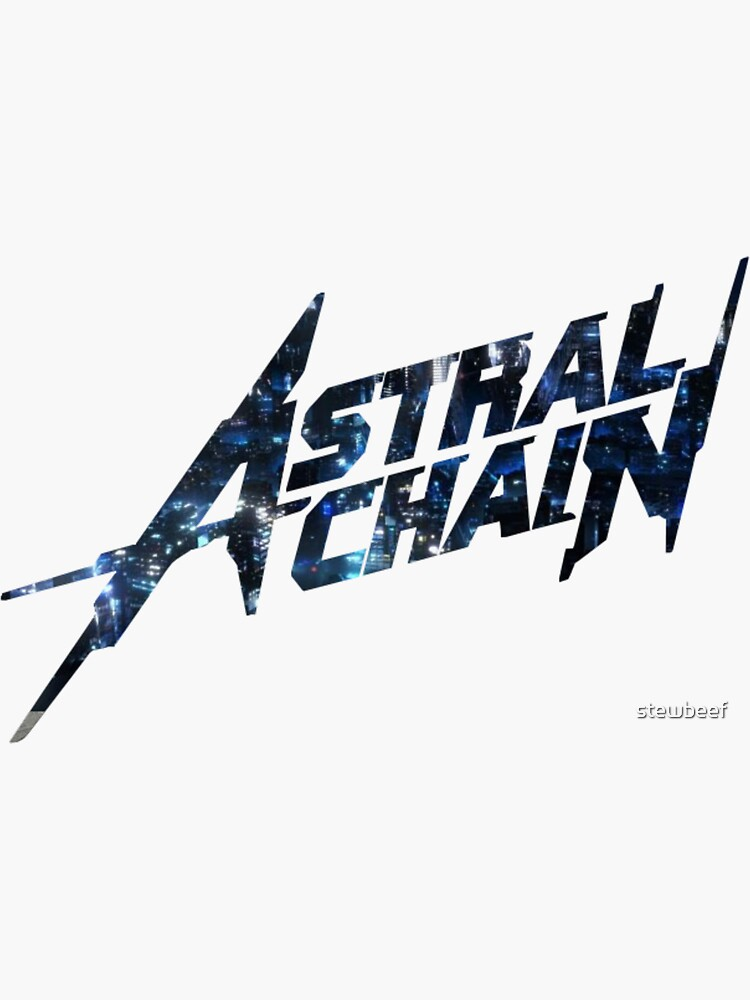 Astral Chain Logo - Cityscape Background by stewbeef