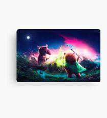 Knife Rat vs Wizard Bear Canvas Print