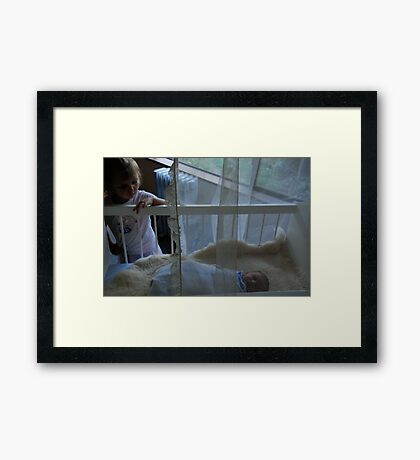 not the baby anymore Framed Print