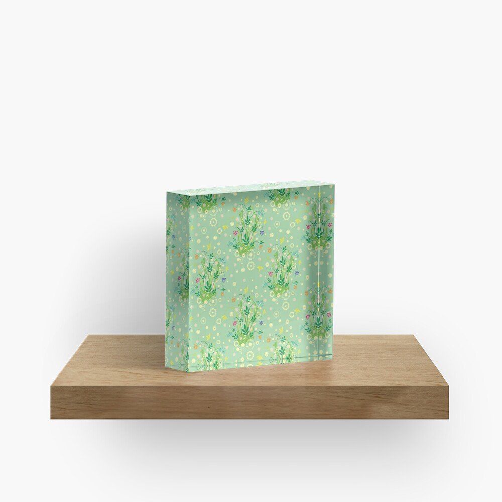 Decorative products with floral ornament. Acrylic Block