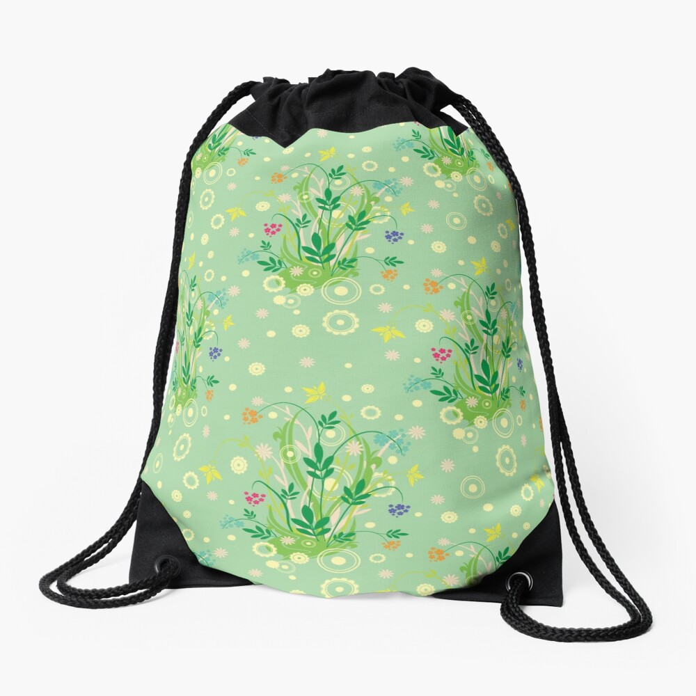 Decorative products with floral ornament. Drawstring Bag