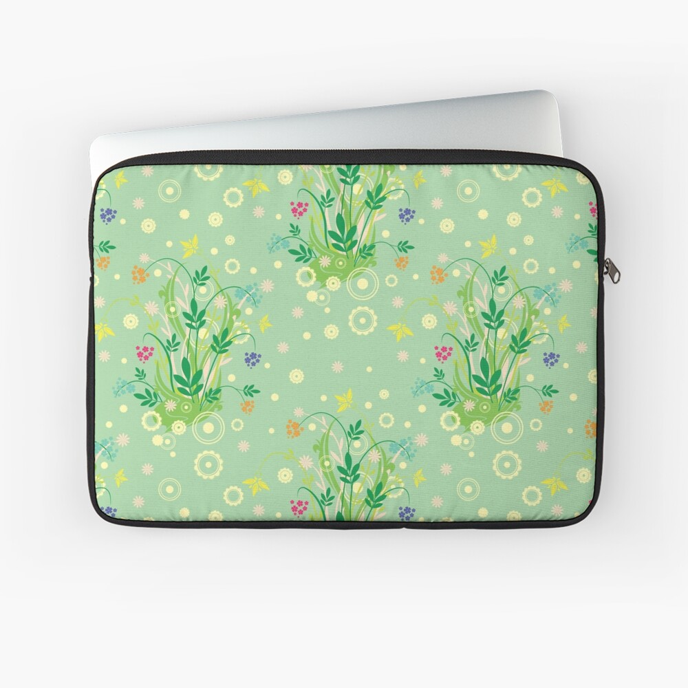 Decorative products with floral ornament. Laptop Sleeve