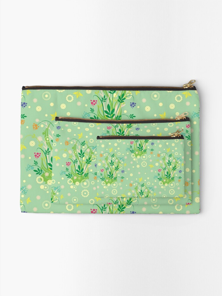 Alternate view of Decorative products with floral ornament. Zipper Pouch