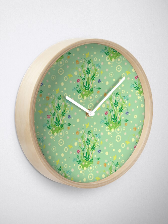 Alternate view of Decorative products with floral ornament. Clock