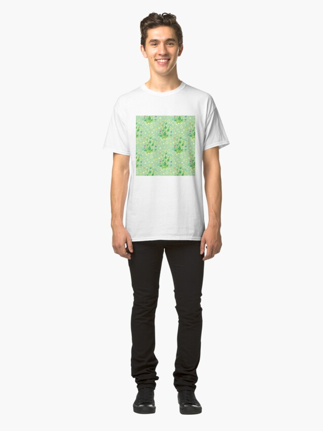 Alternate view of Decorative products with floral ornament. Classic T-Shirt
