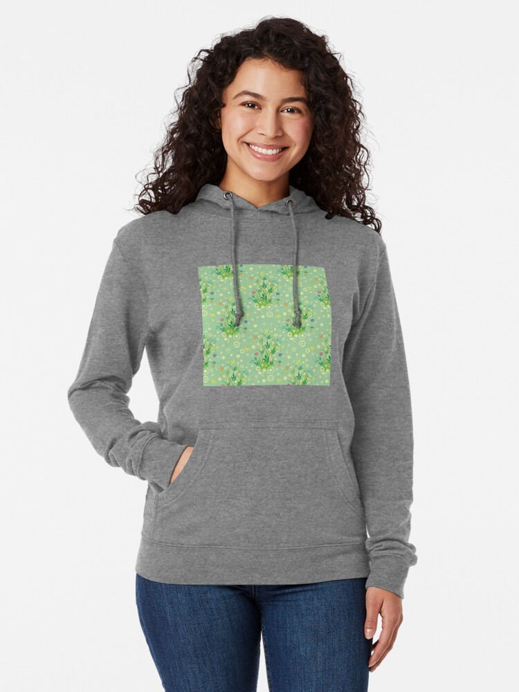 Alternate view of Decorative products with floral ornament. Lightweight Hoodie
