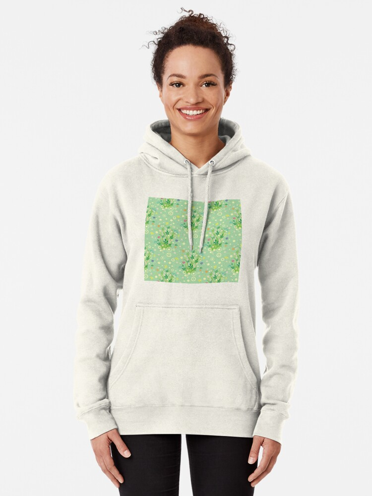 Alternate view of Decorative products with floral ornament. Pullover Hoodie