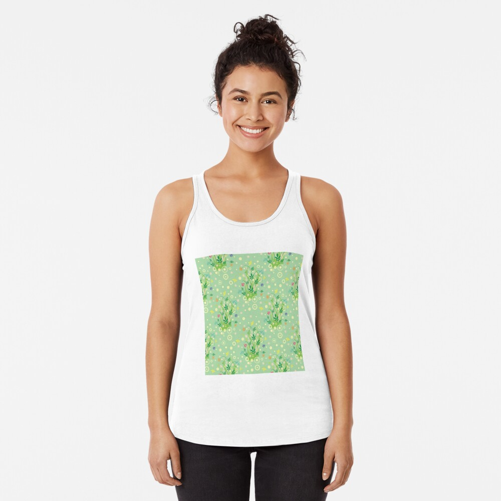 Decorative products with floral ornament. Racerback Tank Top