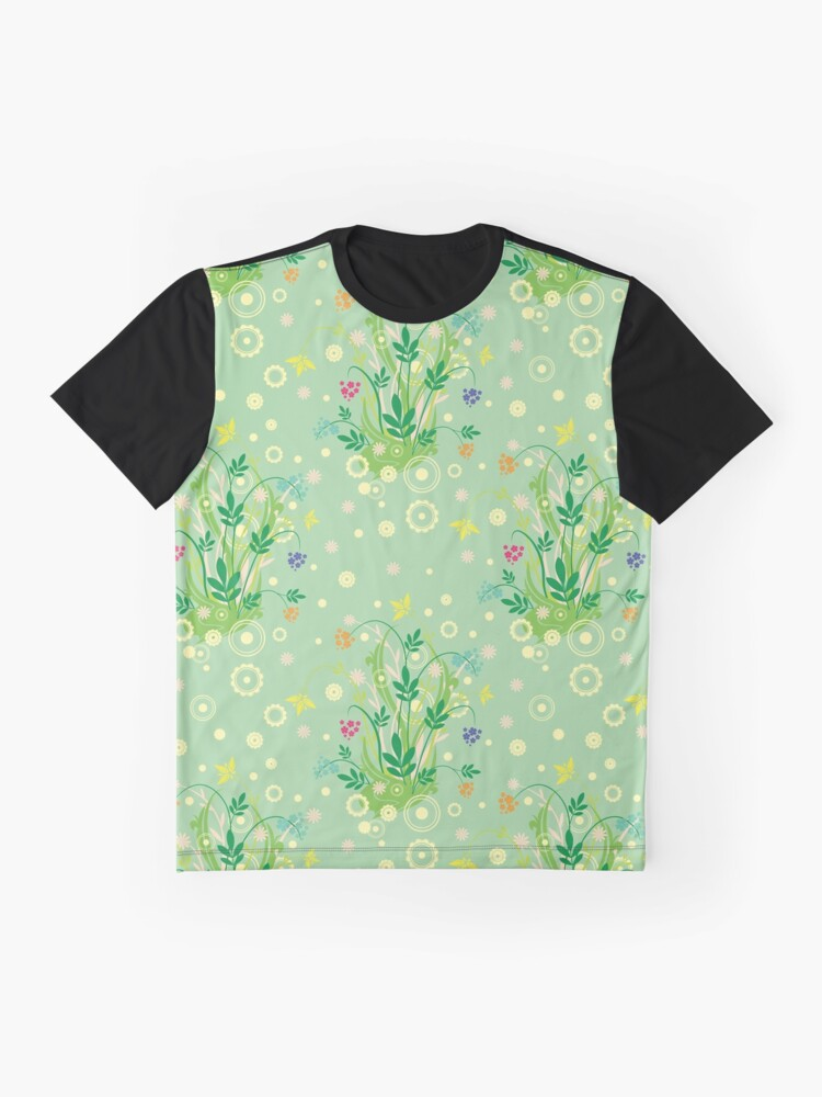Alternate view of Decorative products with floral ornament. Graphic T-Shirt
