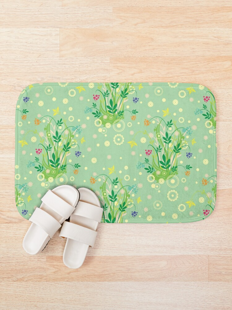 Alternate view of Decorative products with floral ornament. Bath Mat
