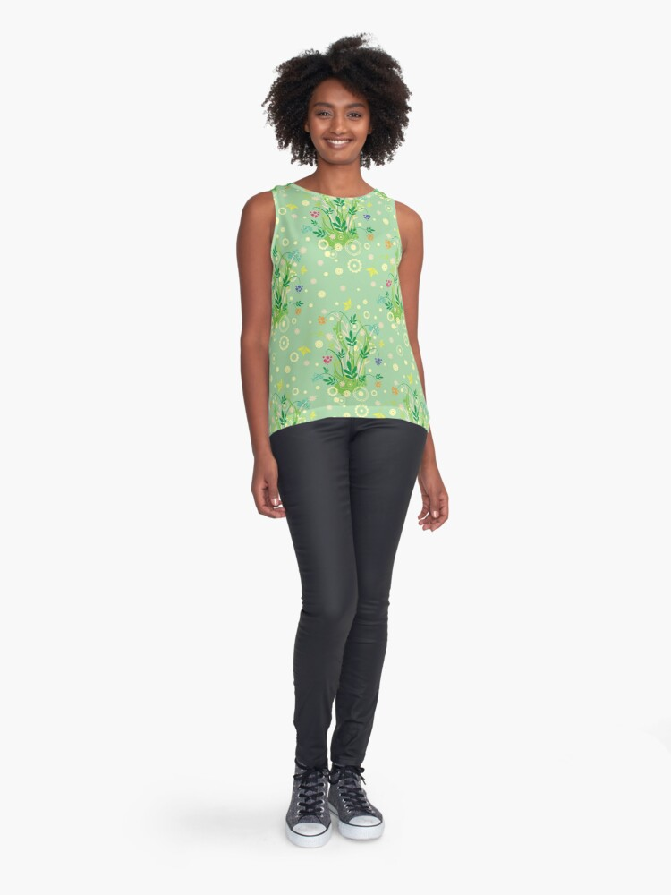 Alternate view of Decorative products with floral ornament. Sleeveless Top