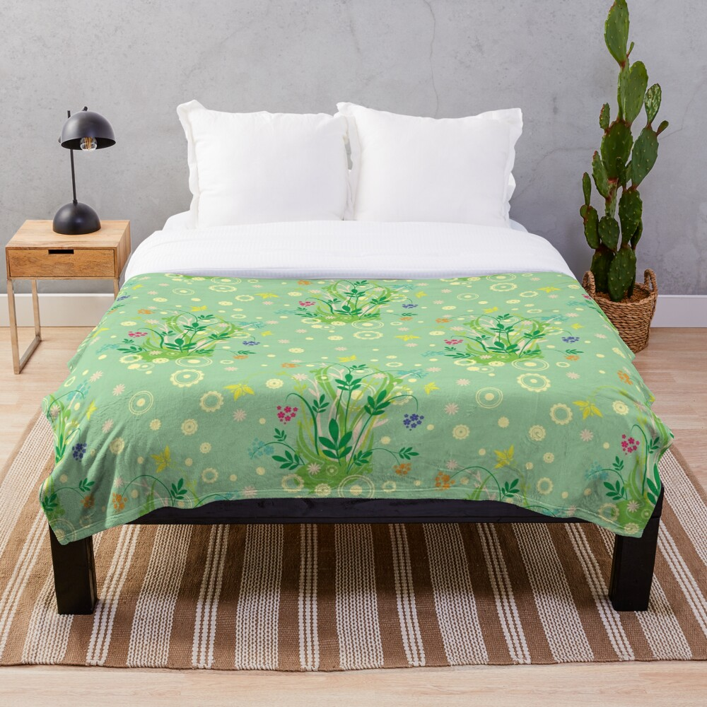 Decorative products with floral ornament. Throw Blanket