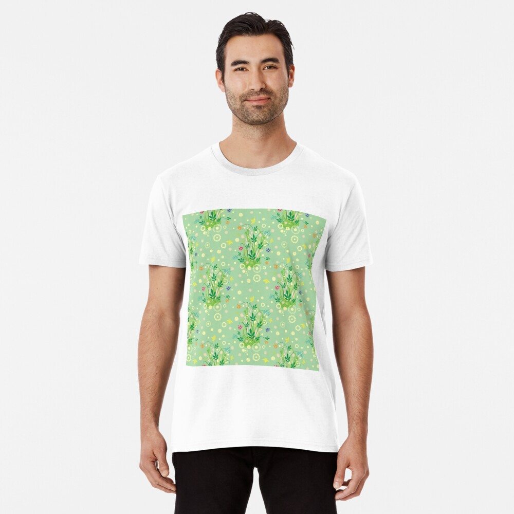 Decorative products with floral ornament. Premium T-Shirt