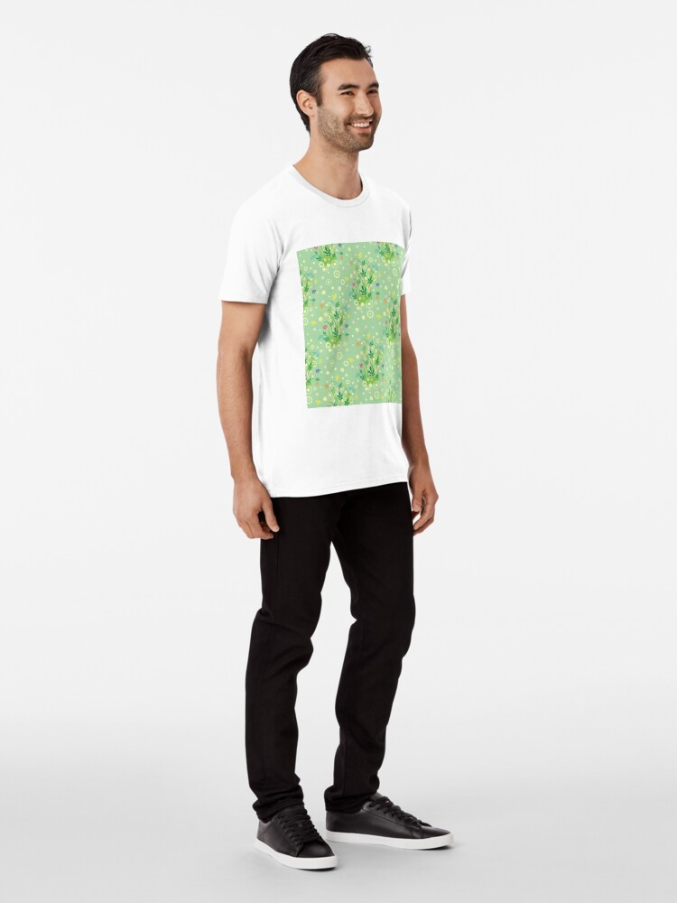Alternate view of Decorative products with floral ornament. Premium T-Shirt