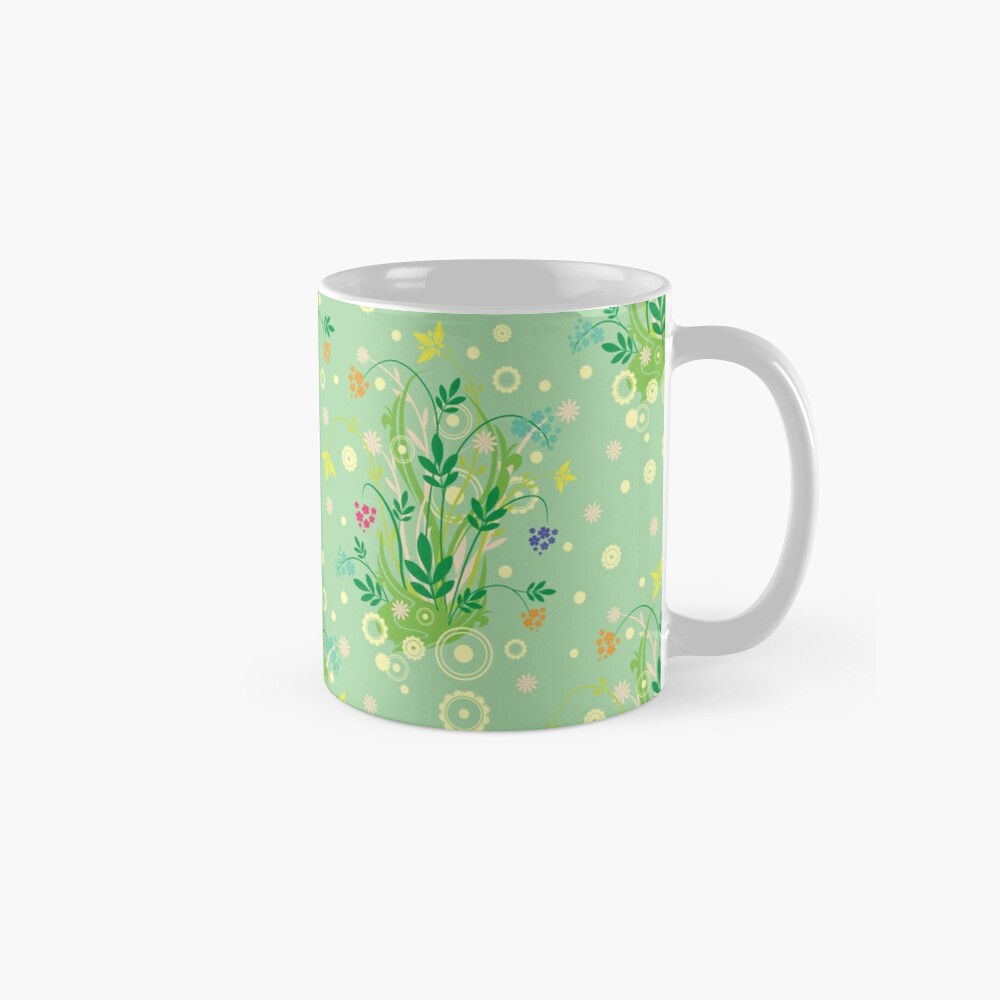 Decorative products with floral ornament. Mug