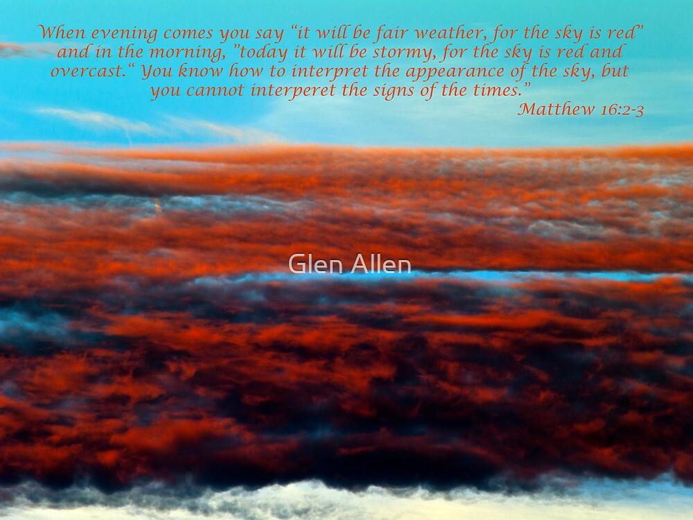 Matthew 15 2-3 by Glen Allen