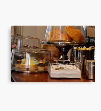 something special i spied at the cafe! Canvas Print