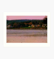 Nightfall Over Penobscot, Maine ~ The Way Life Should Be Art Print