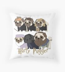Harry Pugger Throw Pillow