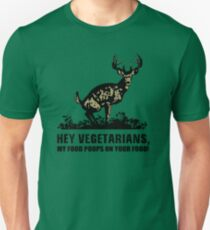 Vegetarian Funny Deer Food Poops  Unisex T-Shirt