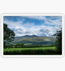 Pen Y Fan and Corn Du in Wales Transparent Sticker