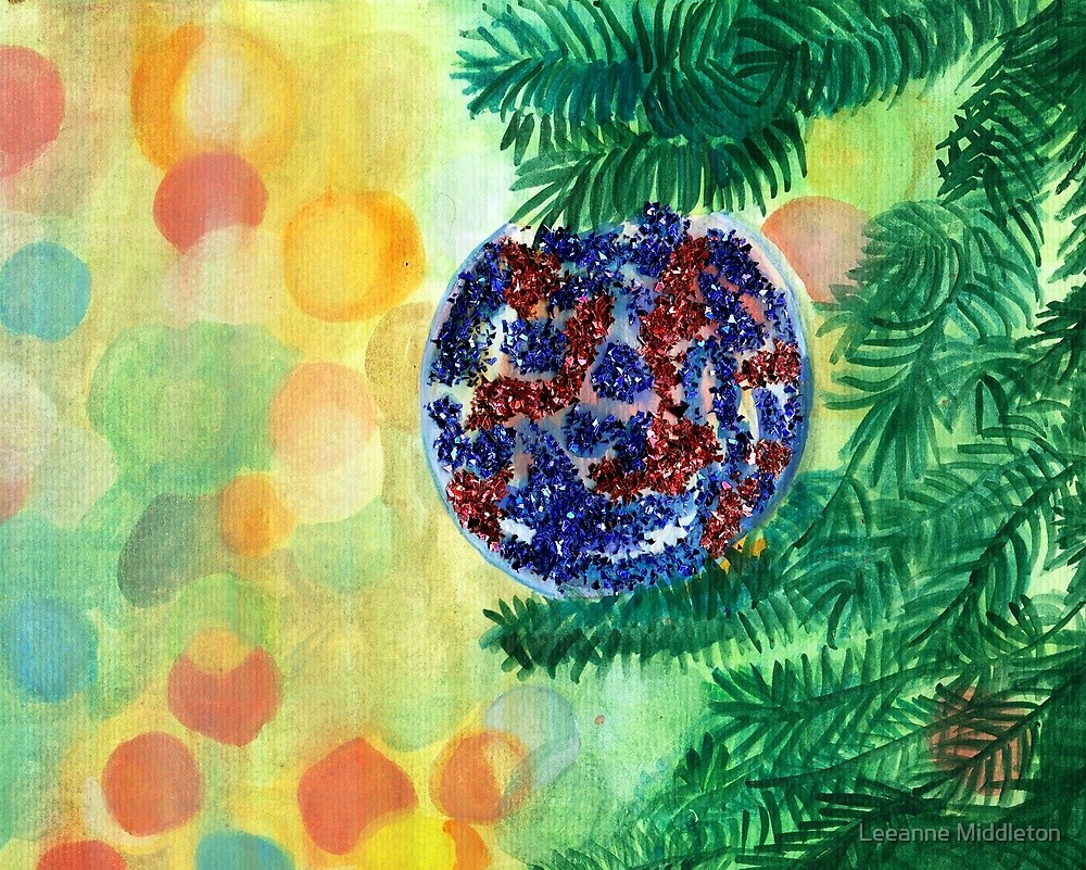 christmas ornament by Leeanne Middleton