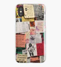 Riot Grrrl Fliers (1996) iPhone Case/Skin