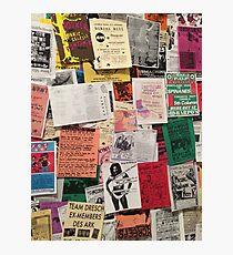 Riot Grrrl Fliers (1996) Photographic Print
