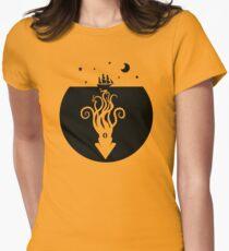 Kraken Night Life (Black) Women's Fitted T-Shirt