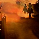 Two Riders at Sunset by socalgirl