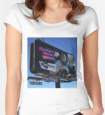 Ernie on a billboard Fitted Scoop T-Shirt