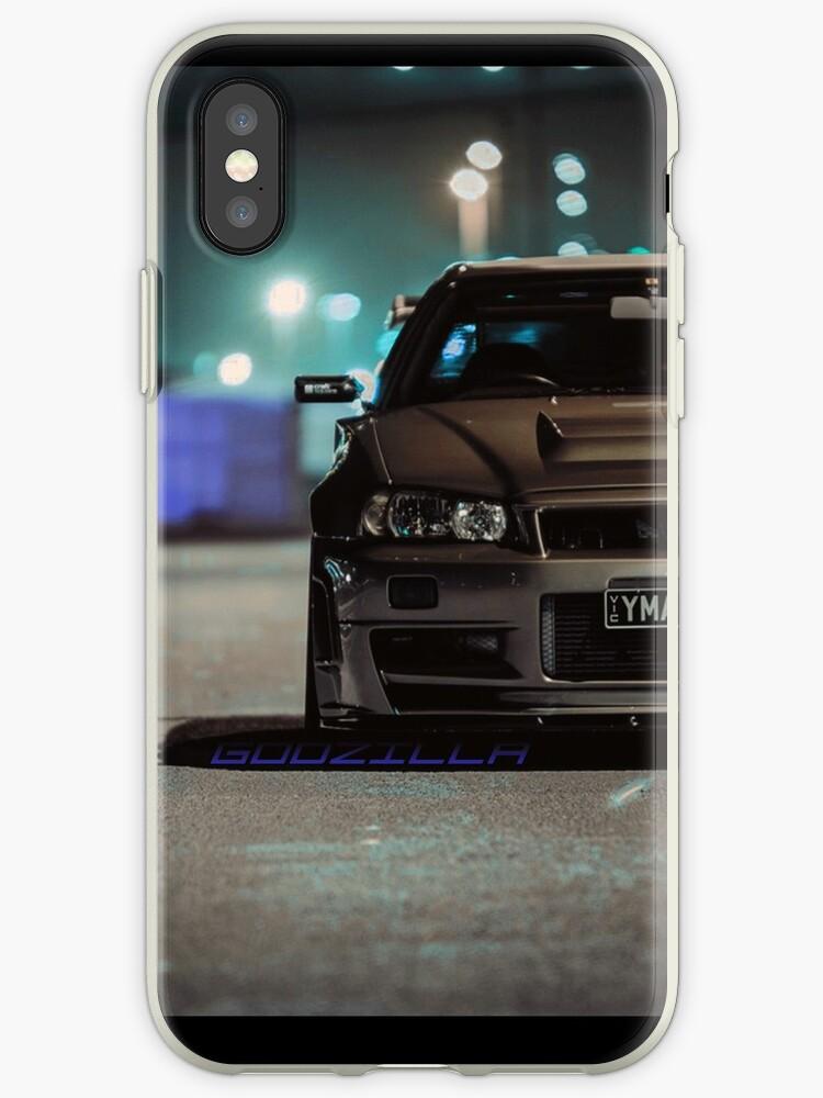 best service 16f4e 4a2a3 'Godzilla GT-R Phone Case ' iPhone Case by Sean McNally