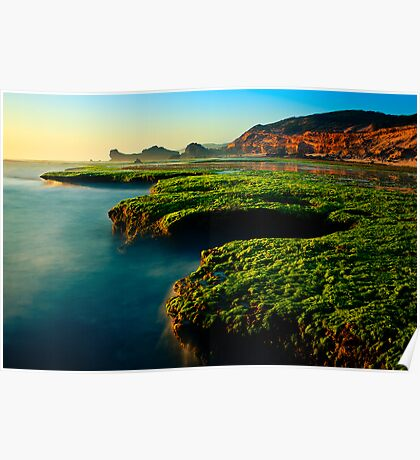 Low Tide at Sphinx Rock Poster