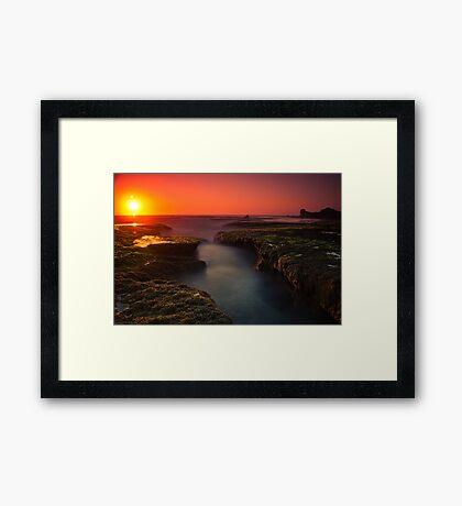 Sunset at Sphinx Rock Framed Print