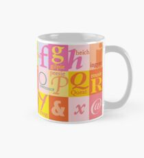 Scottish Couthie Word Alphabet - nice words. Classic Mug