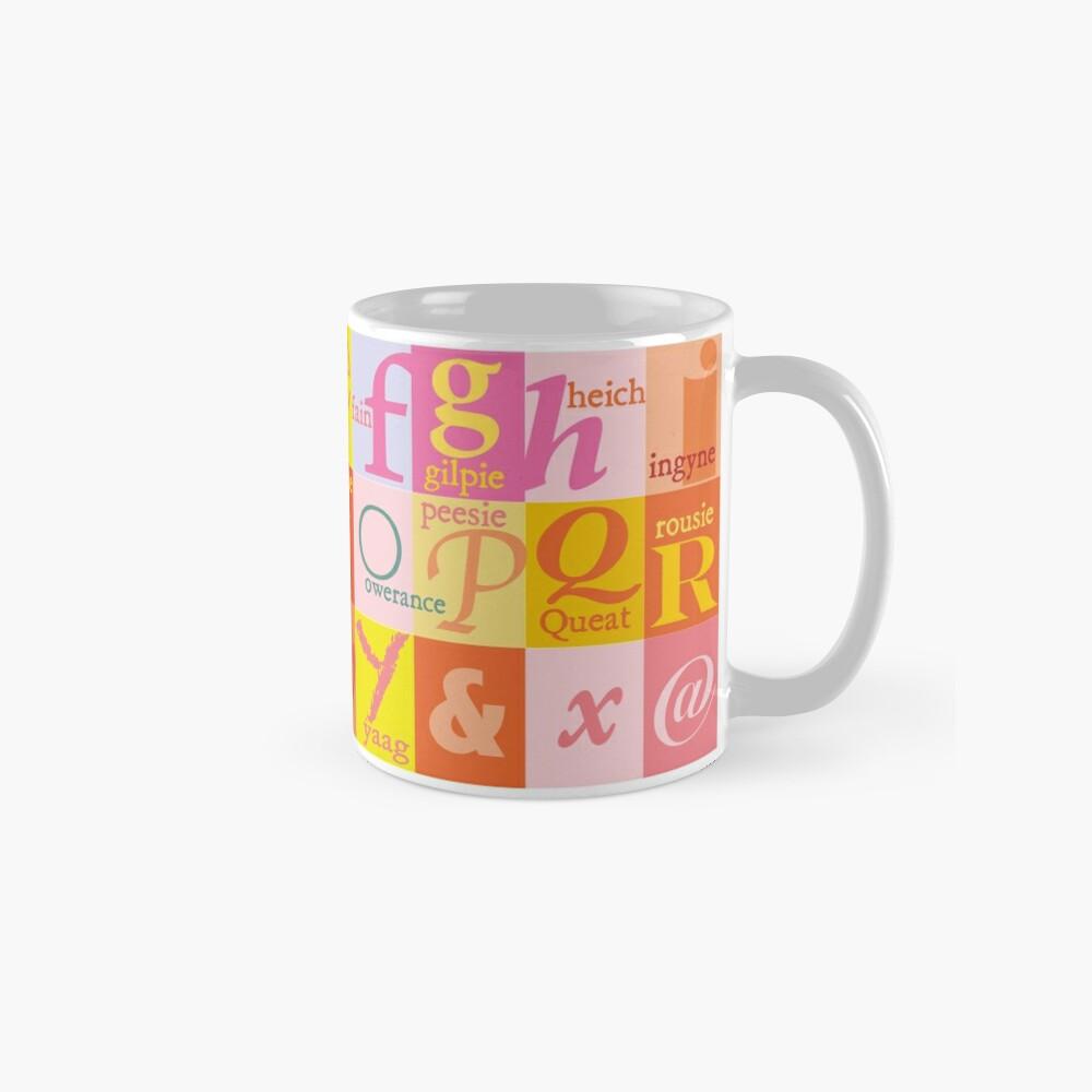 Scottish Couthie Word Alphabet - nice words. Mug