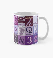 Scottish Snash Words alphabet - insult words. Classic Mug