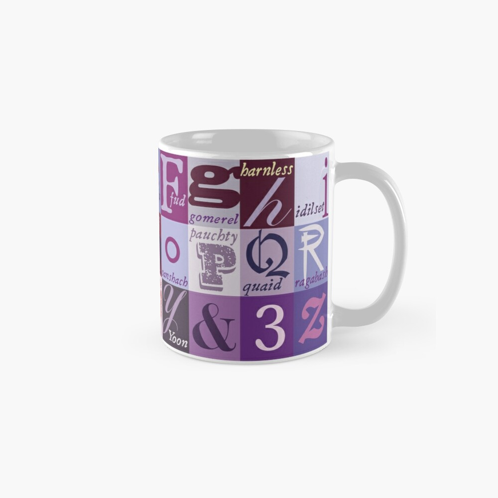 Scottish Snash Words alphabet - insult words. Mug