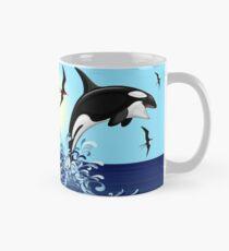Orca Killer Whale jumping Classic Mug